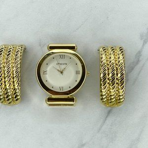 Chico's Gold Tone Roman Numeral Watch Needs Battery
